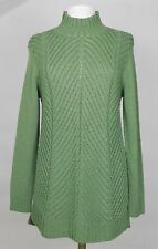 NWT Nurture Women's Green Cable Knit Sweater Tunic Size L (Retail $89)