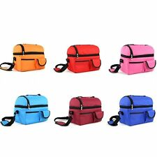Waterproof Cooler Thermal Insulated Lunch Picnic Shoulder Bag Storage Box Tote