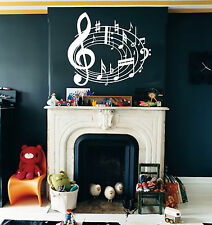 Musical Note Music Wall Art, Sticker, Mural, Giant, Large, Decal, Vinyl, WA401