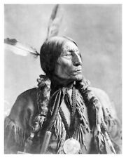 Chief Wolf Robe Native American Southern Cheyenne Indian Silver Halide Photo