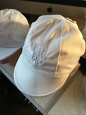 Baby Boys Sun Hat Cap White or Pale Blue Lined Embroidered Bear 0-3 3-6