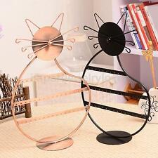 Novelty Cat Shape Earrings Necklace Jewelry Display Stand Holder Rack Organizer