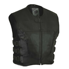 NEW LEATHER Vest vest MOTORCYCLE BIKER vest gilet en cuir CHOPPER vest