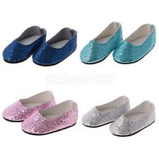Fashion Doll Shoes Party Sequins Shoes Fit for 18'' American Girl Gotz/AG Dolls
