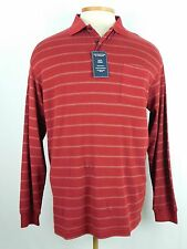 NWT Gold Label Roundtree & Yorke Long Sleeve Polo Red Shirt LT, 2XB, 2XLT  ($59)