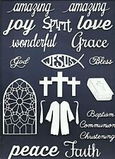 LOTS 6 - 24 PCS. SUB-SETS RELIGIOUS DIE CUTS* *READ* FAITH PEACE CROSS ROBE WORD