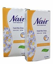 Nair Wax Strips,Waxing Facial, Hair Removal with Camomile Extract, Upper Lip..