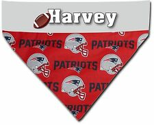Over the Collar Dog Personalized NFL New England Patriots Bandana Bandanna