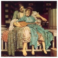 Poster Print Wall Art entitled Mother Teaches Child