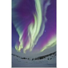 Poster Print Wall Art entitled The Northern Lights in Churchill, Manitoba,