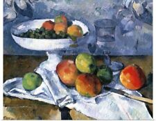 Poster Print Wall Art entitled Still Life with Fruit Dish, 1879-80