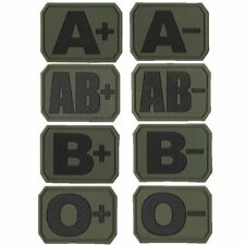 Tactial Blood Group PVC Patch Badge Hook & Loop Backing Military