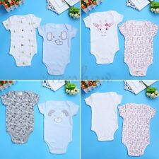2Pcs Newborn Infant Baby Boy Girl Cotton Romper Jumpsuit Bodysuit Clothes 0-9M