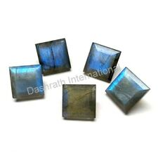 Natural Labradorite Faceted Cut Square Calibrated Size 4mm -15mm Loose Gemstone