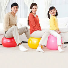Yoga Ball Stability Pilates Ball Fitness Exercise Gym Ball w/ Pump 45 55 65 75cm