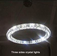 80cm Modern Crystal 1 Ring Circle Ceiling Lamp Chandelier LED Pendant Lighting
