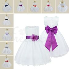 Kids Girl Party Princess Dress Baby Bows Wedding Bridesmaid Formal Dresses Gown