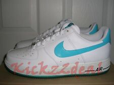 NEW NIKE AIR FORCE 1 07 Low Patent Leather 11.5 White/Marina Blue AF1 315122-110