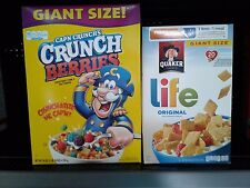 Quaker Cereal ~ Life, Cap 'N Crunch, Oatmeal Squares  – & Many Other Choices