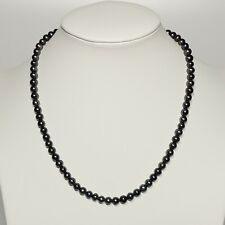 """6-8mm AAA Black Pearl Necklace 18"""" Freshwater Pearl Necklace Pendant"""
