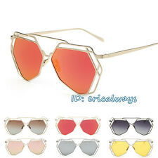 Men Women Irregular Metal Frame Polarized Sunglasses Shades Sun Glasses UV400