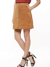 CLASSIC TRENDY  MINI PARTY LEATHER SKIRT REAL SUEDE LEATHER WOMEN LEATHER SKIRT