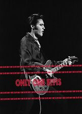 ELVIS PRESLEY on TELEVISION 1968 Photo NBC COMEBACK SPECIAL with Guitar