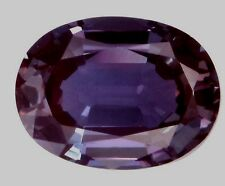 Lab-grown Oval Created Alexandrite (true Alexandrite, not color-change corundum)