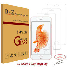 3Pcs Premium Real Tempered Glass Screen Protector Film for Apple iPhone 6/7 Plus