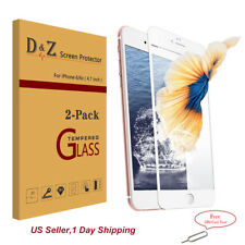 2Pcs 3D Full Cover Tempered Glass Carbon Fiber Screen Protector For iPhone 6s/7