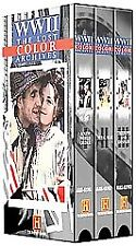 Rare The History Channel Presents WWII: The Lost Color Archives 3-Tape Set VHS