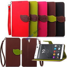 Vintage Leather Wallet Magnetic Protective For SONY Xperia Z3 M4 Aqua Case Cover