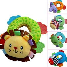 Newborn Baby Plush Rattle Teether Soft Plush Animal Teether Crib Development Toy