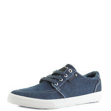 Mens Replay Kolen Navy Casual Denim Trainers Shu Size