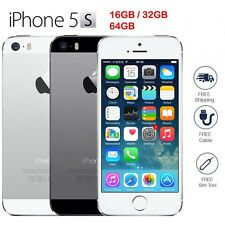 "Apple iPhone 5S 16GB 32GB 64GB ""GSM Factory Unlocked"" Phone Gold Gray or Silver"