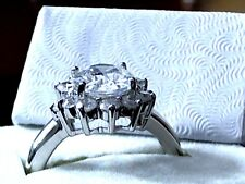 Princess-Cut CZ Ring in Solid 925 Sterling Silver - 5.2 Grams - Sizes 5 6 7 8 9