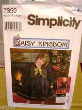 "Simplicity 7359 Girls Daisy Kingdom Dress & Vest & 17"" Doll Dress MANY SIZES"
