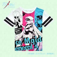 Anime Akame ga KILL! Esdeath Casual Cool Unisex Short Sleeve T-shirt Tops Tee @