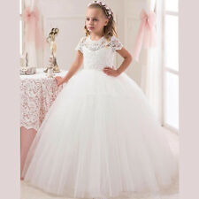 Flower Girl Dress First Communion with Lace Top First Communion Dresses for Girl