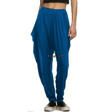 Meaneor Women Hippie Hip-hop Harem Ruched Long Pants Dance Club Loose OO5501
