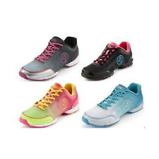 Zumba Fitness Flex Classic Dance Shoes for Zumba Exercise! Pink, Silver, Blue
