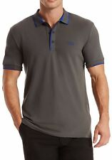 Hugo Boss Polo Shirt Short Sleeve New Gray with Tag Hugo Green Boss Size S M L