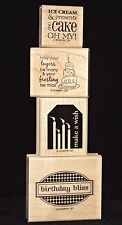 Stampin Up Birthday Bliss Single Stamps Make a Wish Cake Frosting Ice Cream  HTF