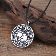 The Tree Of Life Runes Nordic Viking Pendant Necklace Norse Runic Amulet 2017