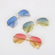 Unisex Women Men Vintage Retro Fashion Aviator Ombre Colour Sunglasses Glasses