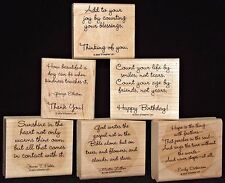 Stampin Up Friend to Friend Single Stamps Phrases & Sayings HTF Nice Singles