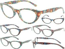 New Women's Floral Tie Dye Burnout Flowers Style Fashion Readers Reading Glasses