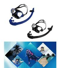 Silicone Snorkeling Scuba Diving Swimming Goggles Mask & Total Dry Snorkel Set
