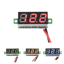 2 Wire Digital LED Car Voltmeter Voltage Panel Meter Gauge DC 2.4V-30V PICK
