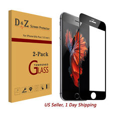 HOT 2Pcs Full Coverage Tempered Glass Film Screen Protector for iPhone 6/6S Plus